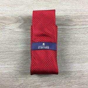 Stafford Red w/ Sparkle Dots Tie